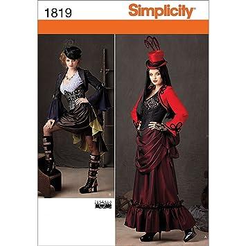 Simplicity Muster 1819 HH Schnittmuster Steampunk Kostüm Gr, 6–44–12 ...