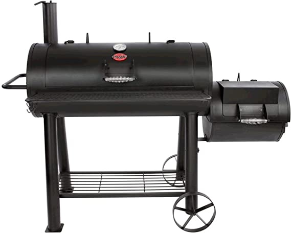 Char-Griller 1091 sq. in. Competition Pro Offset Charcoal or Wood Smoker in Black