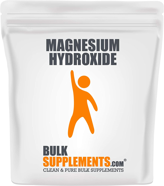 BulkSupplements.com Magnesium Hydroxide Powder - Magnesium Supplement - Mild Laxative - Colon Support (500 Grams)