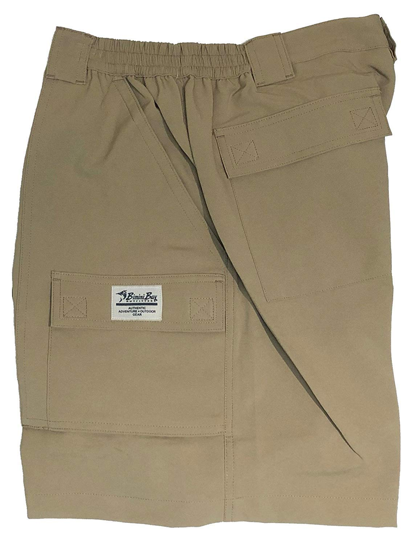 Bimini Bay Outfitters Men's Pine Island Super Flex Short, Khaki, 34 by Bimini Bay Outfitters
