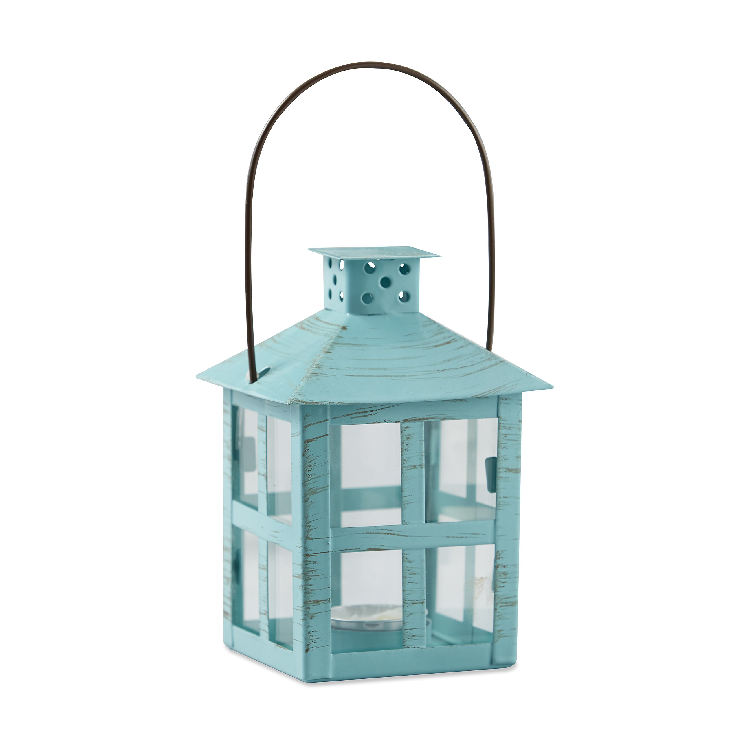 Kate Aspen Vintage Blue Distressed Lanterns (20, Medium)