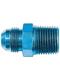 """Aeroquip FCM2009 Blue Anodized Aluminum -10AN to 1/2"""" NPT Pipe Fitting"""