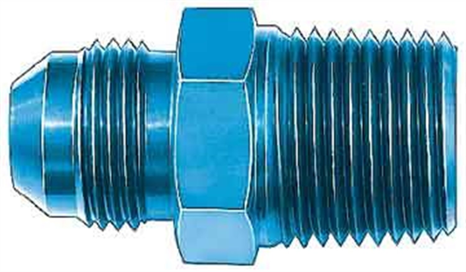 Aeroquip FCM2014 Blue Anodized Aluminum 12AN Male To 1 Straight Pipe Adapter