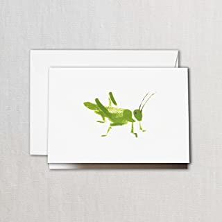 product image for Crane & Co. Brushstroke Grasshopper Note- Pack of 20 Cards