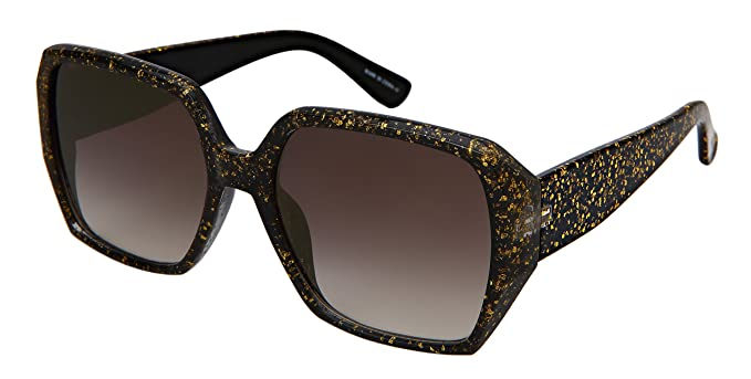 5a3217e2894b Edge I-Wear Square Women Sunglasses Multi Tinted Glitter Frame  34146GT-FLKGM-1