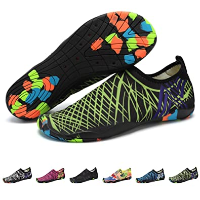 Shoes Barefoot Water Shoes Mens Womens Quick Dry Unisex Sports Aqua Shoes Lightweight Durable Sole For Beach Pool Sand Swim Surf Yoga Water Exercise