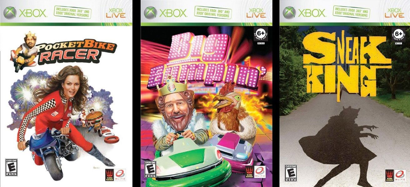 Amazon com: Burger King 3-Game Collection (Sneak King / Big