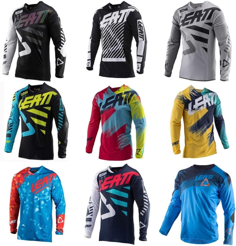 SYXYSM Neue Trocken Motorrad Jersey MX Fahrrad Motocross Jersey BMX DH-T-Shirt Kleidung Langarm MTB Atmungsaktiv T-Shirt Color : B, Size : 4XL