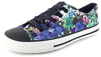 983306e0e0c8 Wynsors New Ladies Womens Bright Floral Extra Wide Fitting Lace Ups Pumps.  - Bright