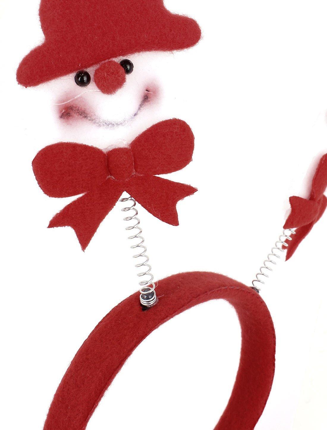 Amazon.com: Dual Modelo del resorte del muñeco de Nieve Pelo de la Venda festivo de Navidad de la decoración: Health & Personal Care