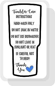 Vaso con instrucciones impresas (idioma español no