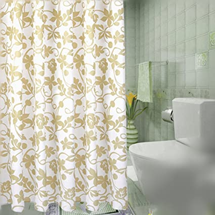 BAIHT HOME Mildew Resistant Shower Curtain Liner Waterproof Heavy Duty Machine Washable Polyester Fabric Eco Friendly