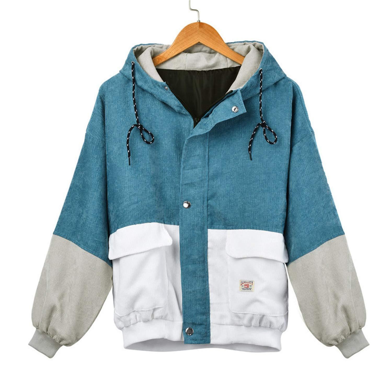 Amazon.com: Desirca Women Long Sleeve Patchwork Sweater ...