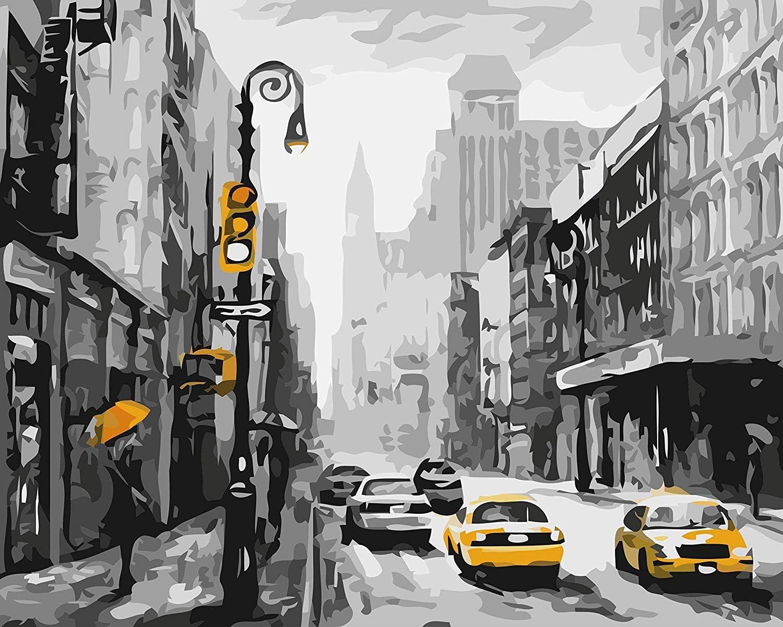 Pintura acrilica por número.Calle de Nueva York