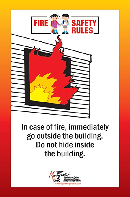 Managementtalk Posters Fire Safety Rules In Case Of Fire Immediately