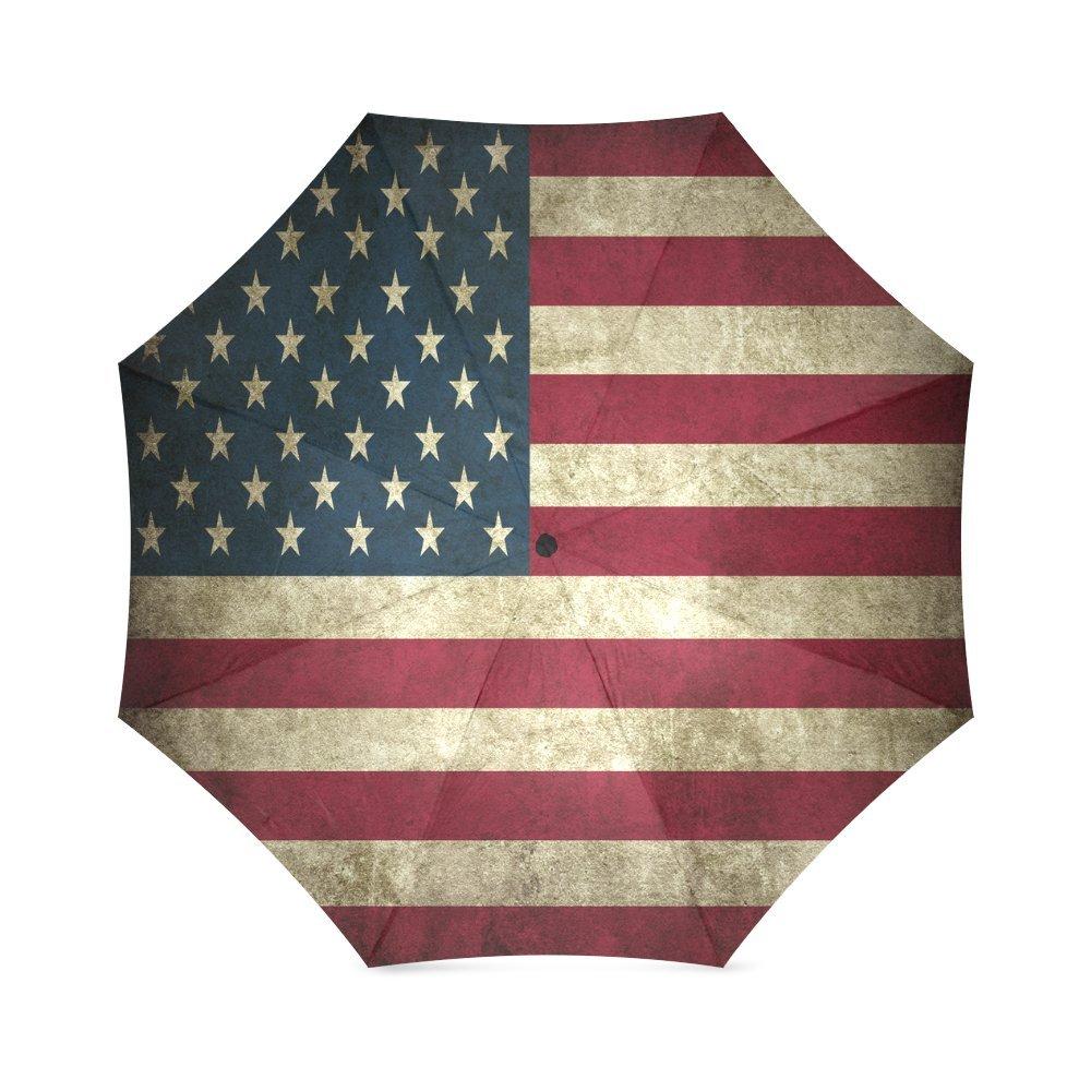 Fashions Vintage USA American Flag Anti Rain Windproof Travel Golf Sports Foldable Umbrella   B01N6DI0K6