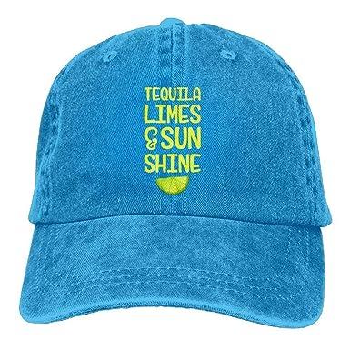 Magictop Tequila Limes & Sun Shine Denim Hat Gorras de béisbol de ...