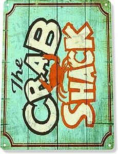 TIN Sign B944 The Crab Shack Restaurant Beach Rustic Metal Decor Tin Sign 7.8inch11.8inch