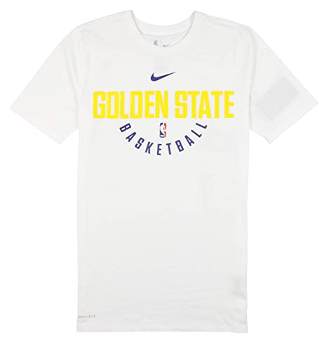 8dfc9268a97 Image Unavailable. Image not available for. Color  Nike Men s Golden State  Warriors Player Practice T-Shirt Medium White
