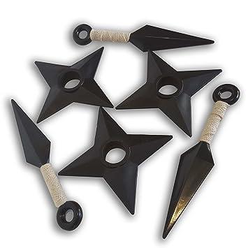 Naruto Juego 3 Kunai Pequeño Blanco y 3 Shuriken Arma y ...