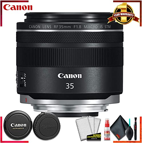 Canon RF 35mm f/1.8 IS Macro STM Lens + Cleaning Kit for Canon Digital SLR Cameras