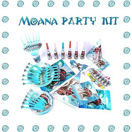 Amazon.com: 107 Items Moana Fiesta de cumpleaños suministros ...