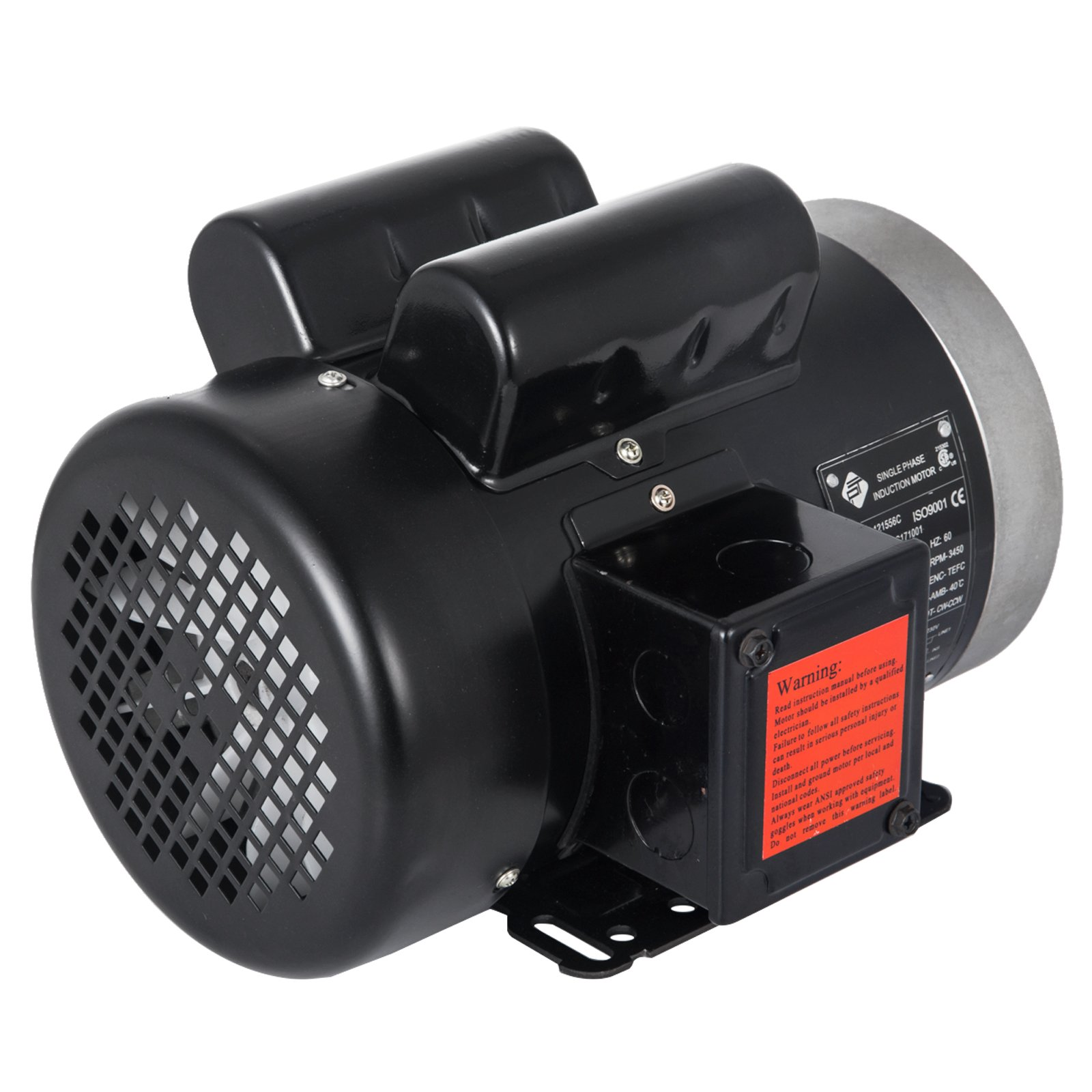 VEVOR 1.5 Hp Electric Motor with Flange Rated Speed 3450 RPM Single Phase Motor AC 115/230V Air Compressor Motor Suit for Agricultural Machinery and General Equipment