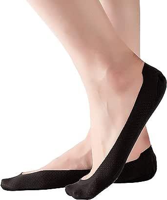 RIIQIICHY Malla Calcetines Cortos con Almohadillas de Silicona Antideslizantes Juego de Calcetines Invisibles Transpirables para Mujer y Niña (4-6 pares): Amazon.es: Ropa y accesorios