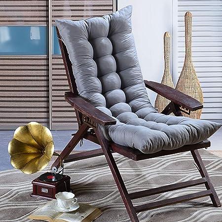 Cushions Cojines para tumbonas, Cojines para Muebles de jardín - Patio de jardín portátil Cama Acolchada Gruesa Silla reclinable Silla de Descanso Funda de Asiento Grey-48 * 120cm: Amazon.es: Hogar
