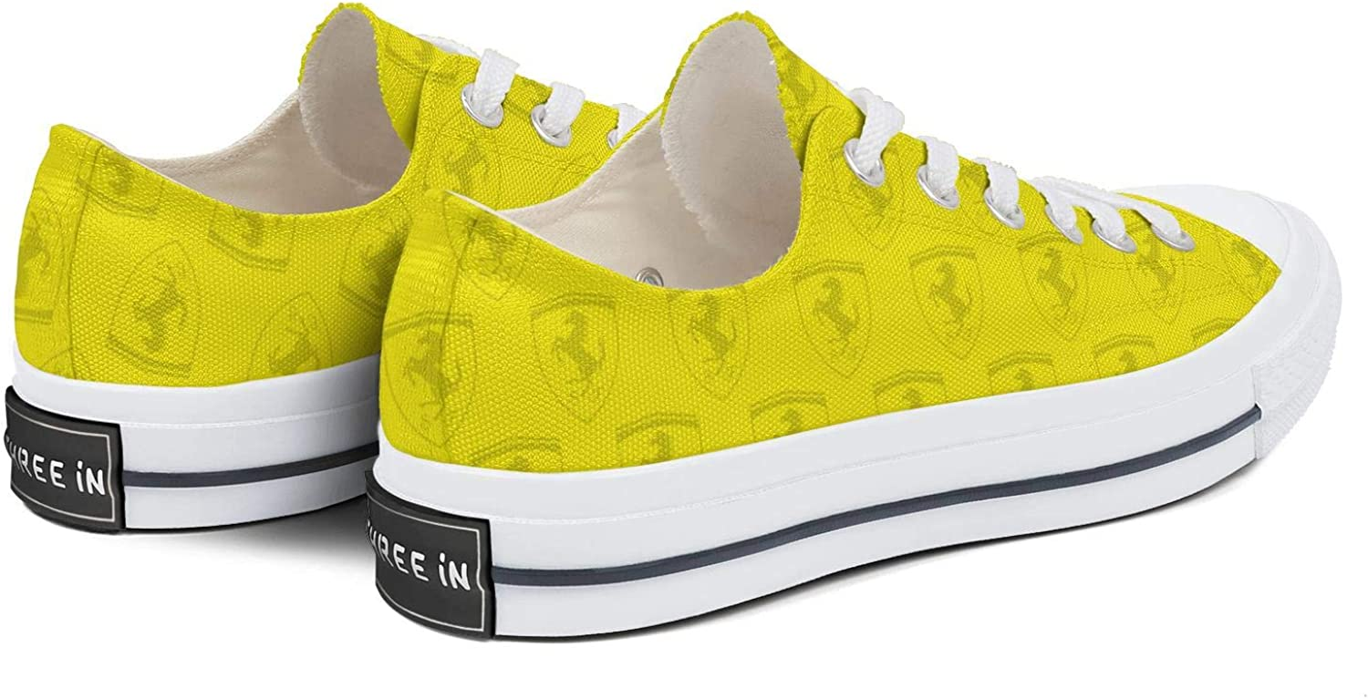 Sneakers for Men Ferrari-car-dealership-Mark-Yellow Running Shoes Mens Sneakers Cool Sneakers