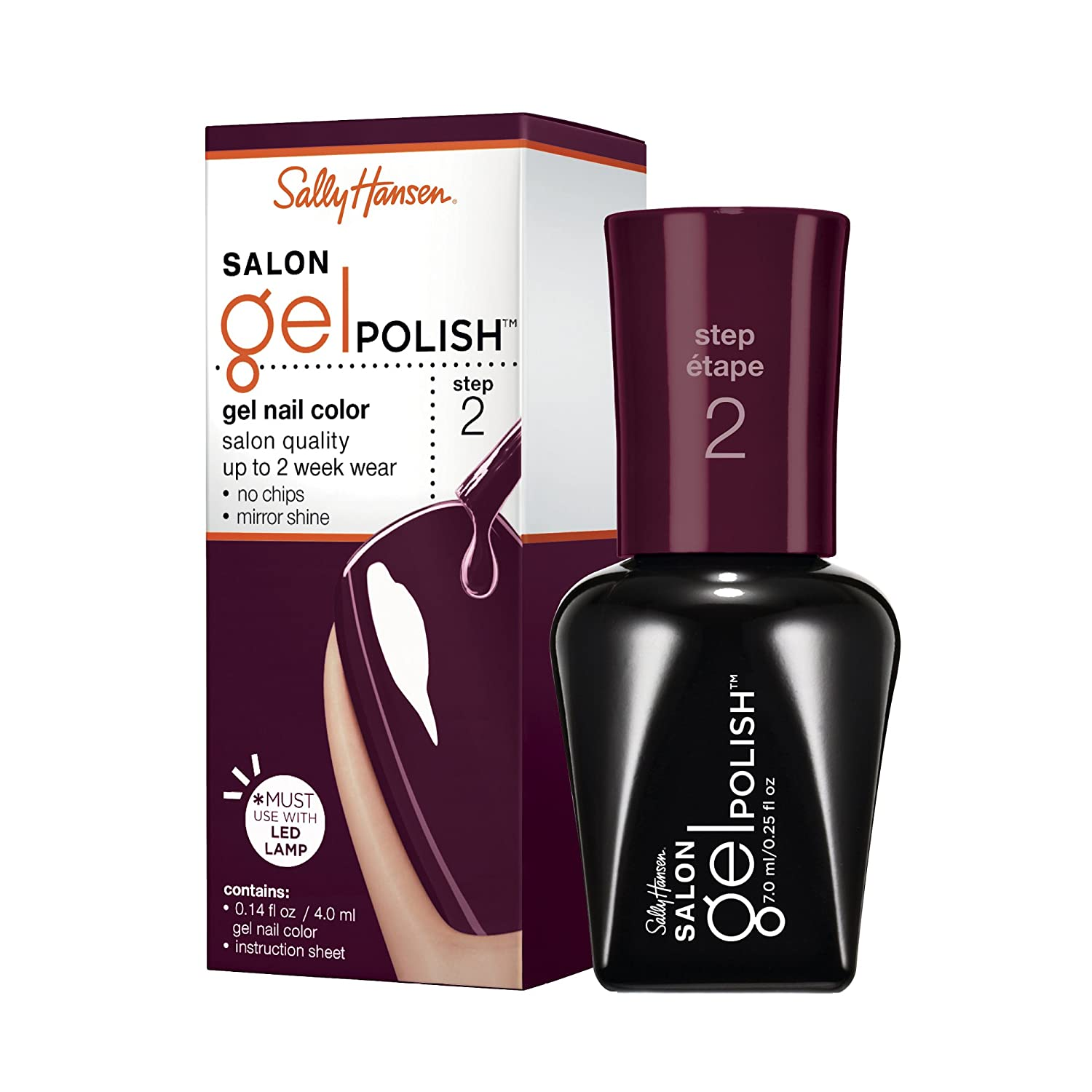 Sally Hansen Salon Pro Gel, Pat On The Black, 0.25 Fluid Ounce