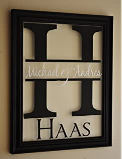 Amazoncom Mrc Wood Products Personalized Family Name Sign Picture