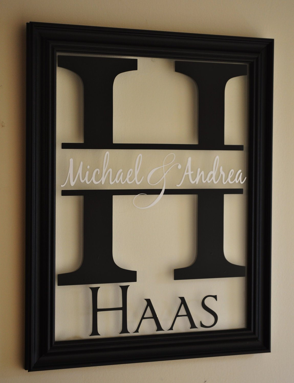 MRC Wood Products Personalized Family Name Sign Picture Frame 13x16 The Mitford by MRC Wood Products