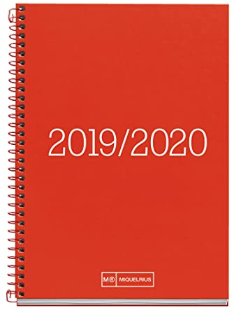 Miquelrius Agenda escolar 19/20 Día Página Essential Rojo Catalán