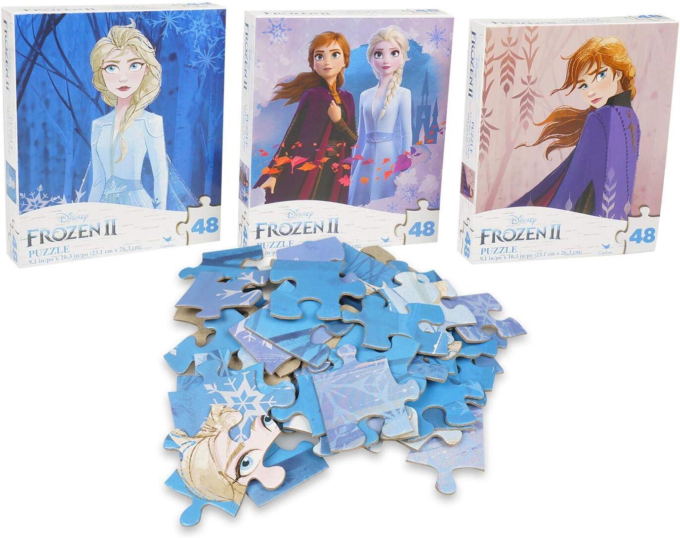 2 New Disney Princess 48 Piece Jigsaw Puzzles Set Kids Activity