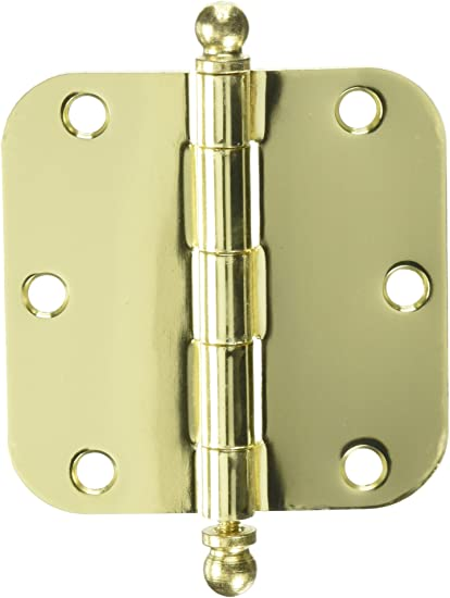 Deltana S35R5BB5 Residential Ball Bearing 3-1//2 Inch x 3-1//2 Inch Steel Hinge with 5//8 Inch Radius Corners Antique Brass