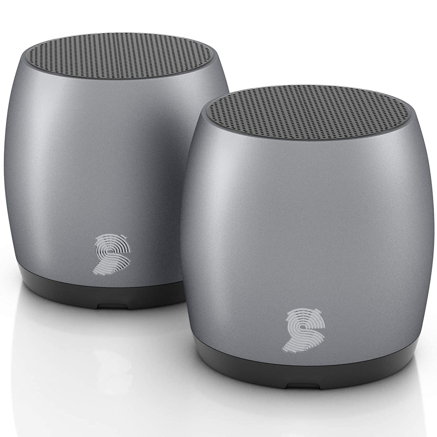 HeadSound G2 Portable Wireless Bluetooth Speakers, Latest Powerful Dual True Wireless Mini Speaker Set w/Surround HD Sound, Instant Pairing w/Built in Mic, HandsFree Calls for Home, Office, Outdoor