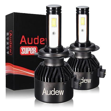 Audew H7 LED Bombillas Faros Delanteros Bombillas para Coches 36W 6000K 8000LM Lámparas LED Coche Kit