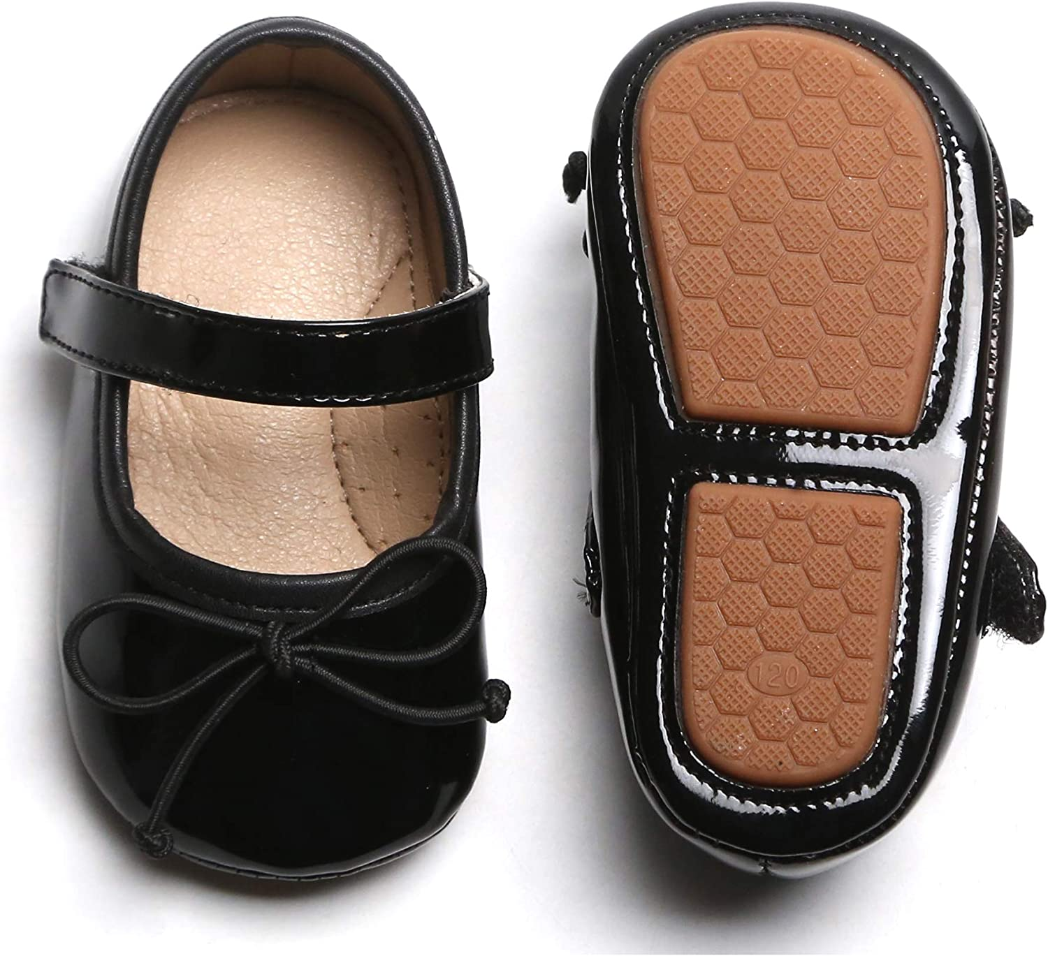 Infant//Toddler Kiderence Baby Girls Prewalker Mary Jane Flats Bowknot Princess Dress Shoes