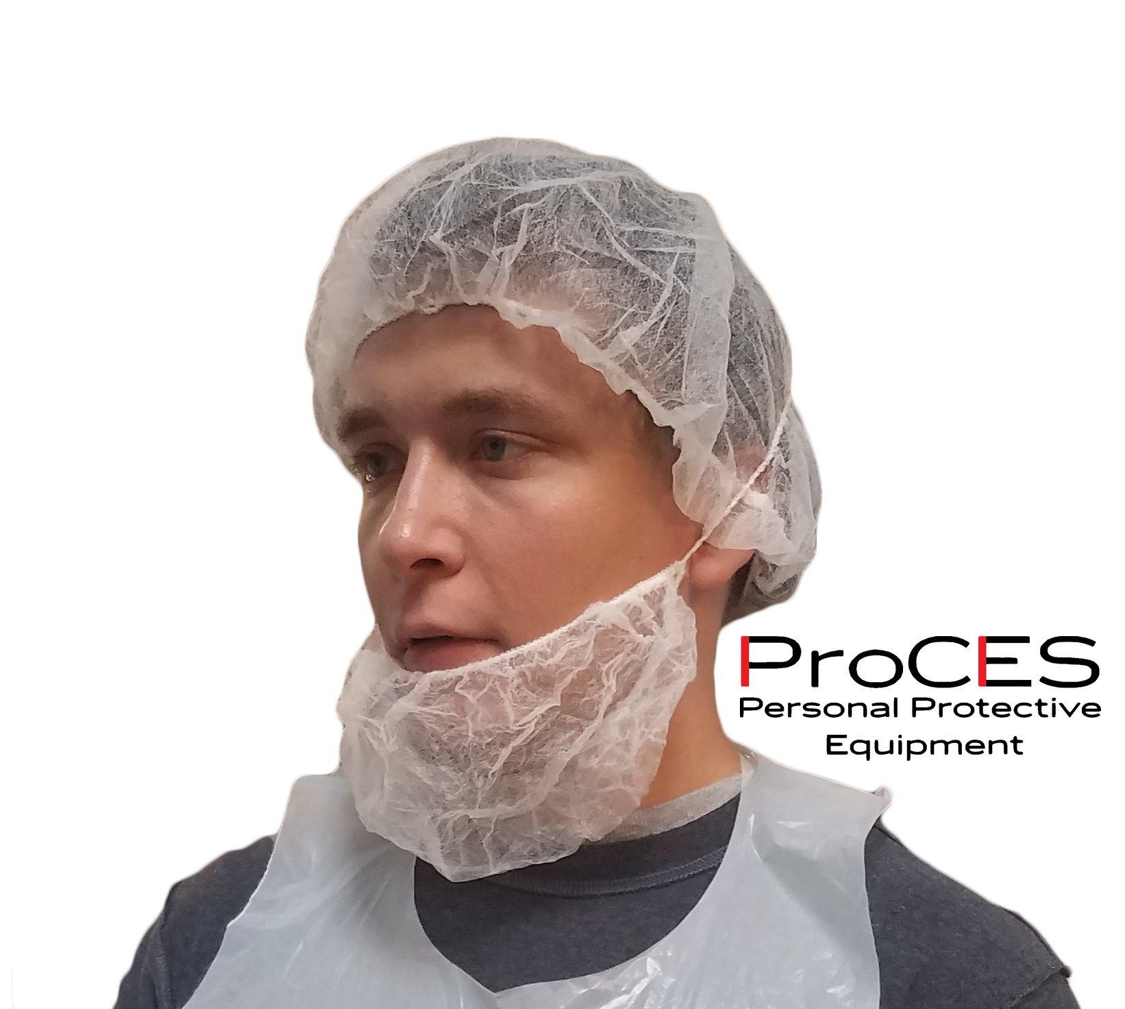 ProCES Disposable White Hairnet - 100 Pack - Bouffant Cap - Polypropylene - 21'' -
