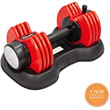 Elevens 25Ibs Adjustable Dumbbell Series with Handle and Weight Plate for Gym Home