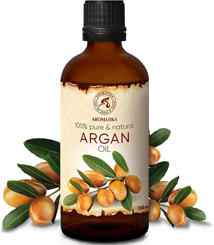 Argan Aceite 100ml - Argania Spinosa Kernel - Marruecos - 100% Puro y Natural - Cuidado para ?abello - Pelo - Piel - Rostro - Cuerpo - Argan Oil 100ml
