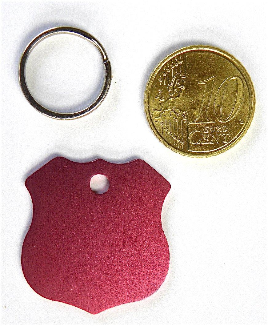 1 medalla rosa insignia policía perro gato Collar arnés pequeño ...