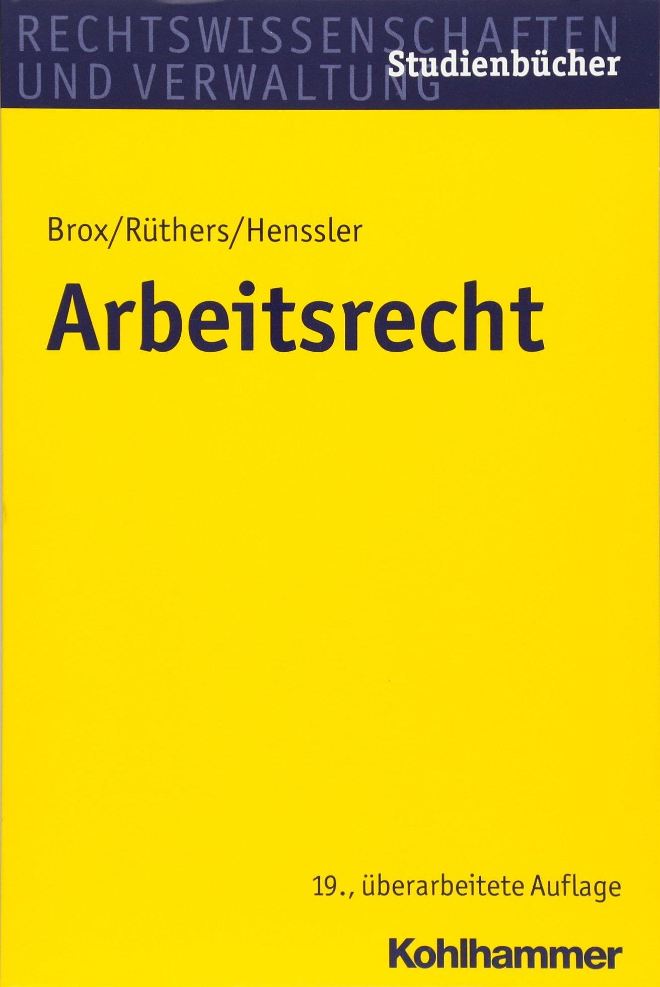 Arbeitsrecht  Studienbucher Rechtswissenschaft