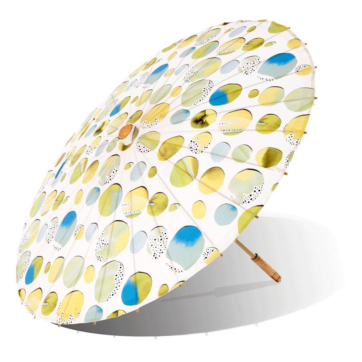 Lily-Lark Fun Circles UV protection sun parasol, rated UPF 50+