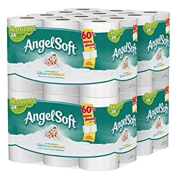 angel soft toilet paper 48 double rolls bath tissue pack of 4 with