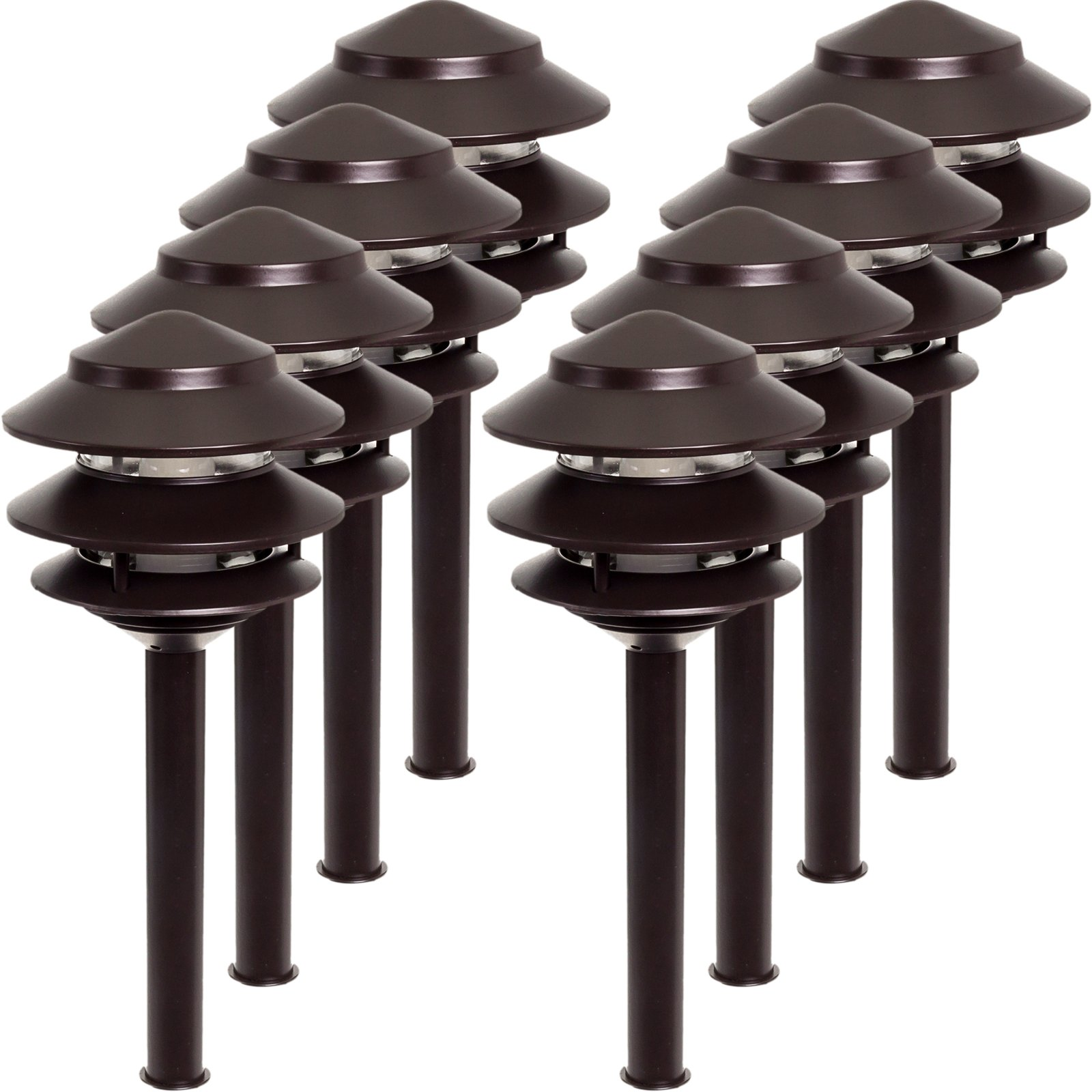 8 Pack Westinghouse 2.4W Low Voltage LED Landscape Pathlight (Remington Bronze)