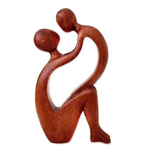 NOVICA 175971 I Adore You Wood Statuette