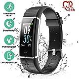 ESOLOM Fitness Tracker, Fitness Armband mit HR und Schlaf-Monitor, Wasserdicht IP68 Farb-Bildschirm Smart Armband mit 14 Trainingsmodi, Schrittzähler Kalorienzähler Anruf SMS Reminder Sportuhr