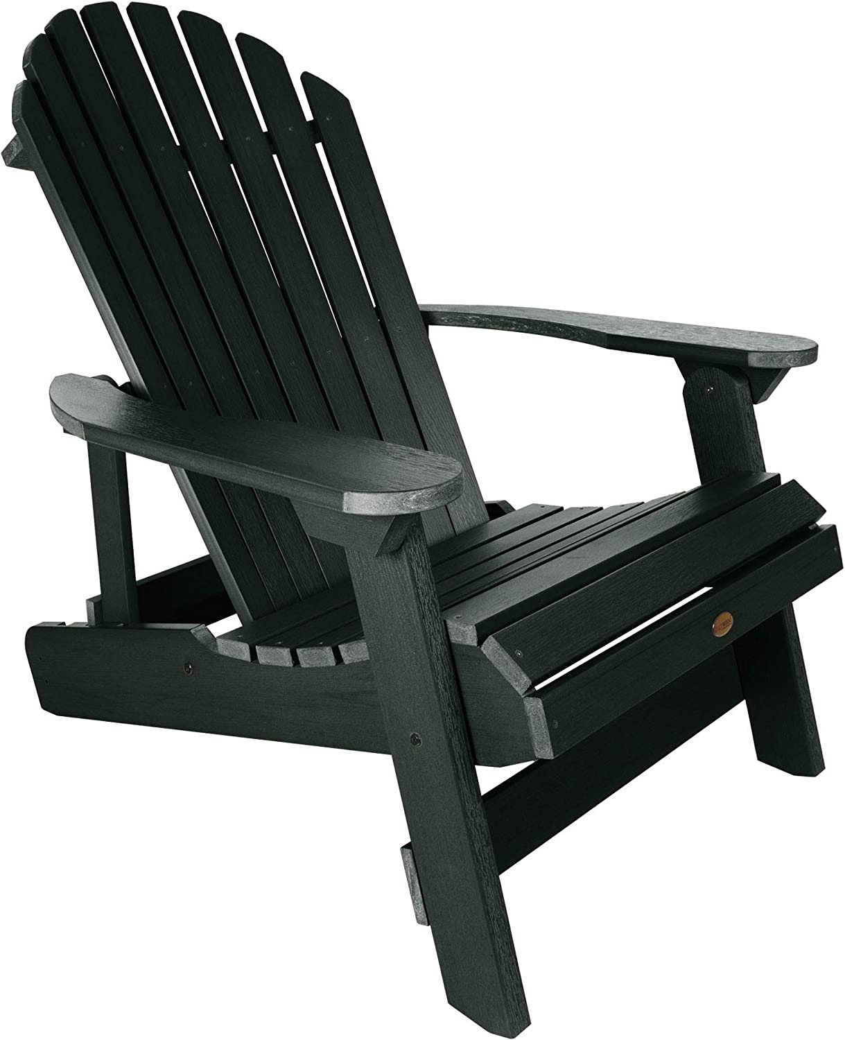 Highwood Hamilton Pieghevole e reclinabile Sedia Adirondack, King Size, Bianco, Charleston Green, King